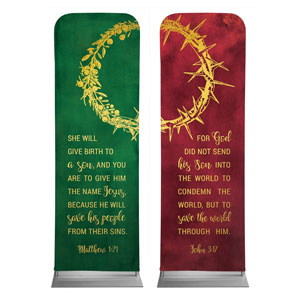 Wreath and Thorn Crown 2 x 6 Sleeve Banner