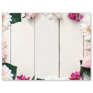 Mothers Day Note Flowers Jumbo Banners
