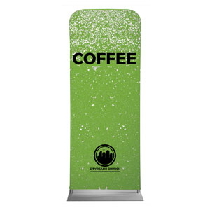 CityReach Green Pebble Fade Coffee Banners