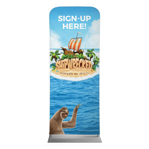 "Shipwrecked Sign Up 2'7"" x 6'7"" Sleeve Banners"