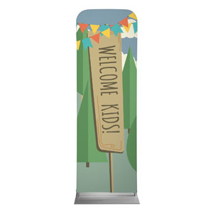 Woodland Friends Welcome 2 x 6 Sleeve Banner