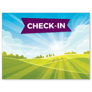 Bright Meadow Check In Jumbo Banners