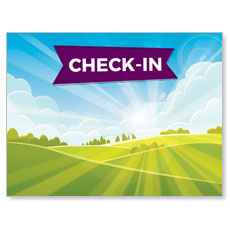 Bright Meadow Check In Banner