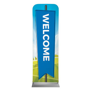 Bright Meadow Welcome 2 x 6 Sleeve Banner