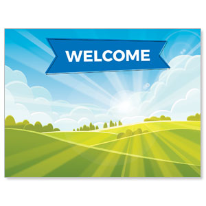 Bright Meadow Welcome Jumbo Banners