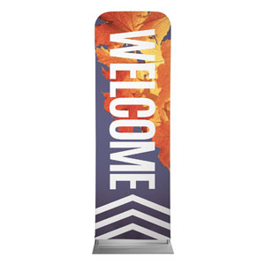 Chevron Welcome Fall 2 x 6 Sleeve Banner