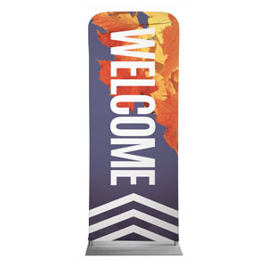 "Chevron Welcome Fall 2'7"" x 6'7"" Sleeve Banners"