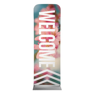 Chevron Welcome Spring 2 x 6 Sleeve Banner