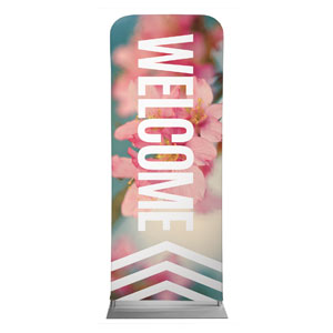 "Chevron Welcome Spring 2'7"" x 6'7"" Sleeve Banners"