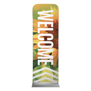 Chevron Welcome Summer 2 x 6 Sleeve Banner