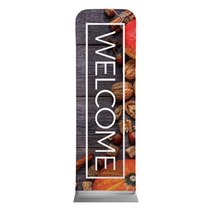 Wooden Slats Fall 2 x 6 Sleeve Banner
