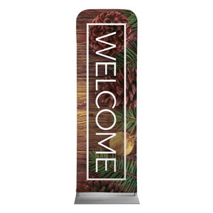 Wooden Slats Winter 2 x 6 Sleeve Banner