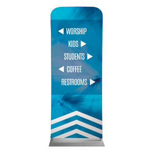 Chevron Welcome Blue Directional Banners