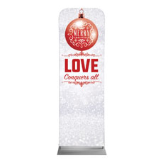 Silver Snow Love Ornament Banner