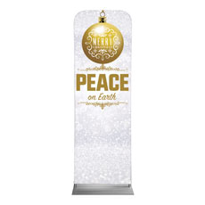 Silver Snow Peace Ornament Banner