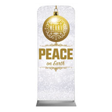 Silver Snow Peace Ornament