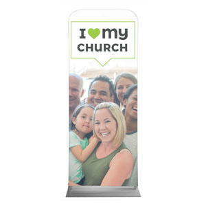 "ILMC Believe Love Serve 2'7"" x 6'7"" Sleeve Banners"