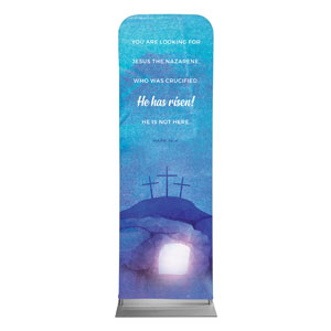 Blue Purple Easter Tomb 2 x 6 Sleeve Banner