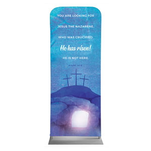 Blue Purple Easter Tomb Banners