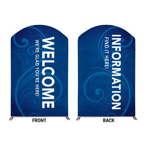 Flourish Welcome Information 5' x 8' Curved Top Sleeve