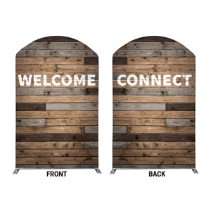 Wood Wall Welcome Connect 5' x 8' Curved Top Sleeve