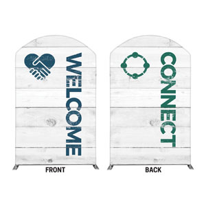 Shiplap Welcome Connect White Banners