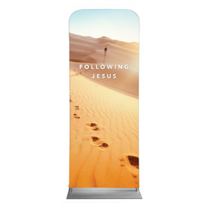 "Following Jesus Sand Dunes 2'7"" x 6'7"" Sleeve Banners"