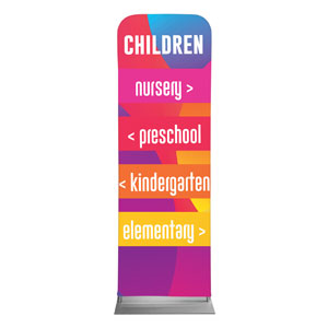 Curved Colors Children Directional 2 x 6 Sleeve Banner