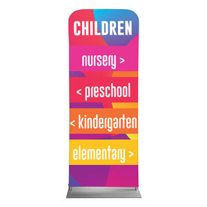 "Curved Colors Children Directional 2'7"" x 6'7"" Sleeve Banners"
