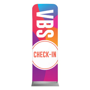 Curved Colors VBS Check-In 2 x 6 Sleeve Banner