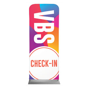 "Curved Colors VBS Check-In 2'7"" x 6'7"" Sleeve Banners"