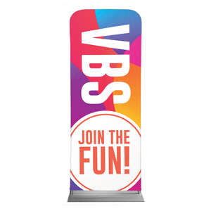 "Curved Colors VBS Join the Fun 2'7"" x 6'7"" Sleeve Banners"