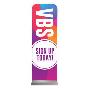 Curved Colors VBS Sign Up 2 x 6 Sleeve Banner