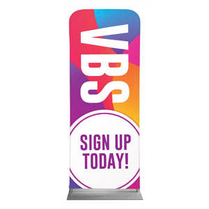 "Curved Colors VBS Sign Up 2'7"" x 6'7"" Sleeve Banners"
