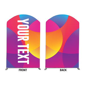 Curved Colors Your Text 5' x 8' Curved Top Sleeve