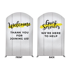 Yellow Paint Stroke Welcome Guest Services