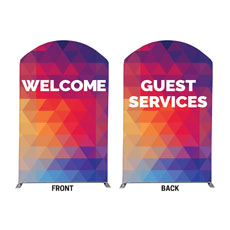Geometric Bold Welcome Guest Services