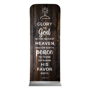 "Dark Wood Luke 2:14 2'7"" x 6'7"" Sleeve Banners"