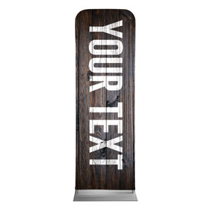 Dark Wood Your Text Here 2 x 6 Sleeve Banner