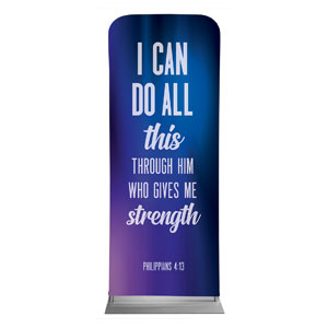 "Aurora Lights Phil 4:13 2'7"" x 6'7"" Sleeve Banners"