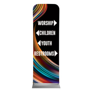 Twisted Paint Directional 2 x 6 Sleeve Banner
