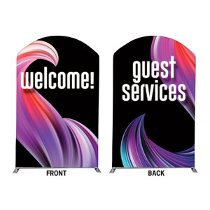 Twisted Paint Welcome Guest Services 5' x 8' Curved Top Sleeve