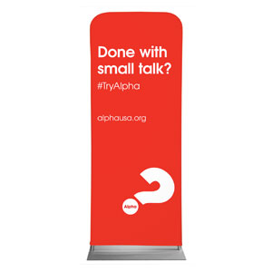 "Alpha Small Talk Red 2'7"" x 6'7"" Sleeve Banners"
