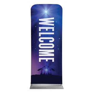 "Aurora Lights Christmas Welcome 2'7"" x 6'7"" Sleeve Banners"