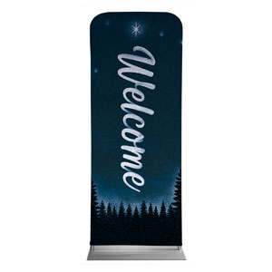 "Christmas Forest Silhouette 2'7"" x 6'7"" Sleeve Banners"