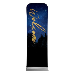 Night Sky Gold Script Welcome 2 x 6 Sleeve Banner