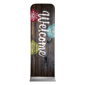 Dark Wood Christmas Ornaments 2 x 6 Sleeve Banner