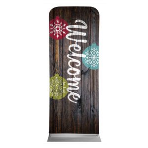 "Dark Wood Christmas Ornaments 2'7"" x 6'7"" Sleeve Banners"