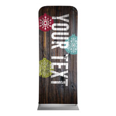 Dark Wood Christmas Ornaments Your Text