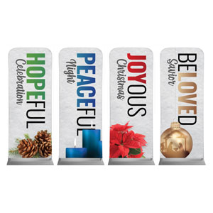 "Bold Advent Words 2'7"" x 6'7"" Sleeve Banners"